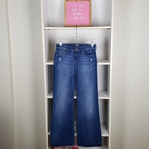 7 for All Mankind Dojo Flare Jeans SZ25